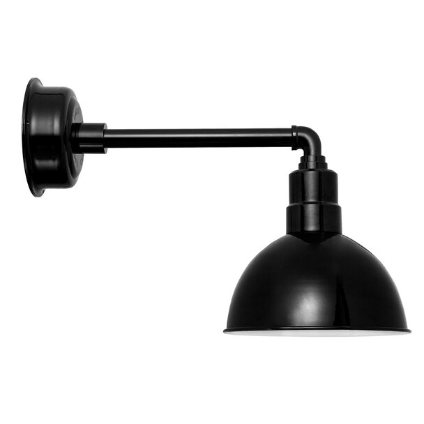 "10"" Black Metropolitan Indoor/Outdoor Blackspot LED Barn Light"