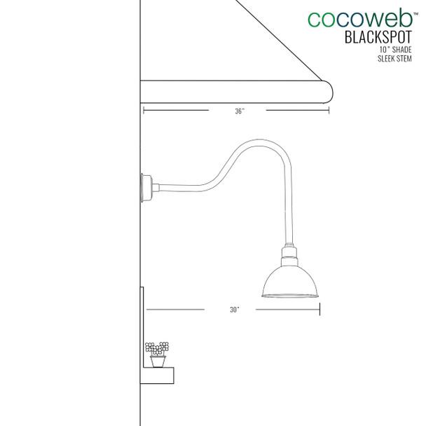 """10"""" Blackspot Jade Sleek Indoor/Outdoor LED Barn Lights"""