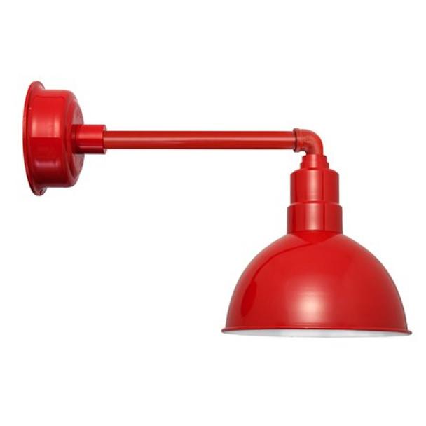 """10"""" Cherry Red Blackspot Metropolitan Indoor/Outdoor Barn Lights"""