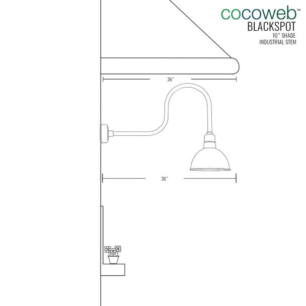 """10"""" Mahogany Bronze Blackspot Indoor/Outdoor Industrial LED Barn Lights"""