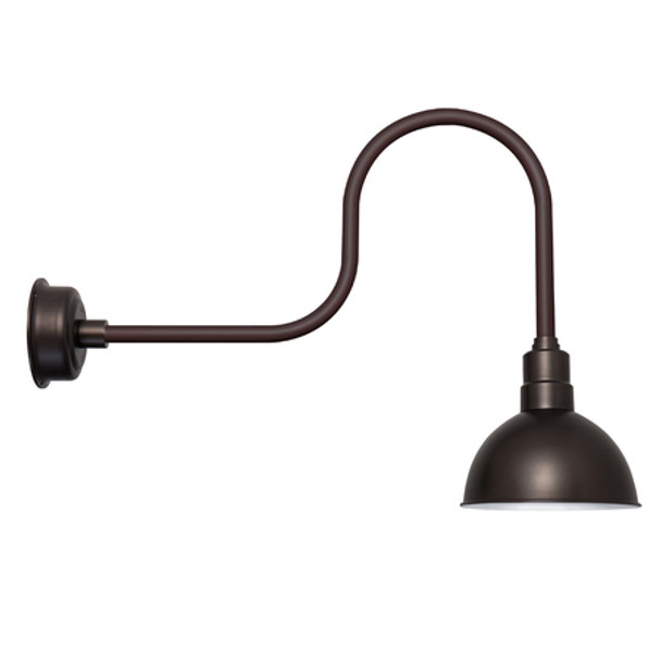 "10"" Mahogany Bronze Blackspot Indoor/Outdoor Industrial LED Barn Lights"