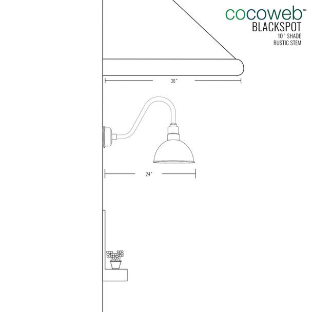 "Mahogany Bronze 10"" Rustic Blackspot Indoor/Outdoor LED Barn Lights"