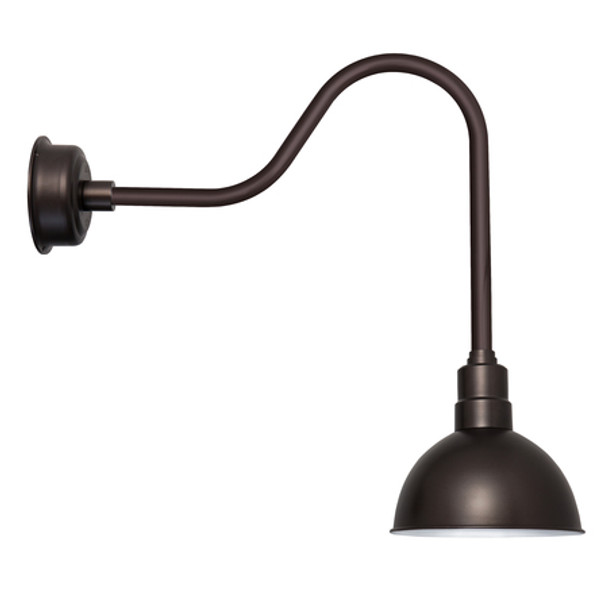 "Mahogany Bronze 10"" Blackspot Sleek Indoor/Outdoor LED Barn Lights"