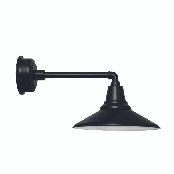 "Black Metropolitan 16"" Calla Indoor/Outdoor LED Barn Light"