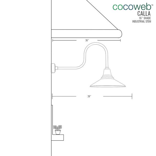 "Industrial Calla 16"" Black Indoor/Outdoor LED Barn Light"