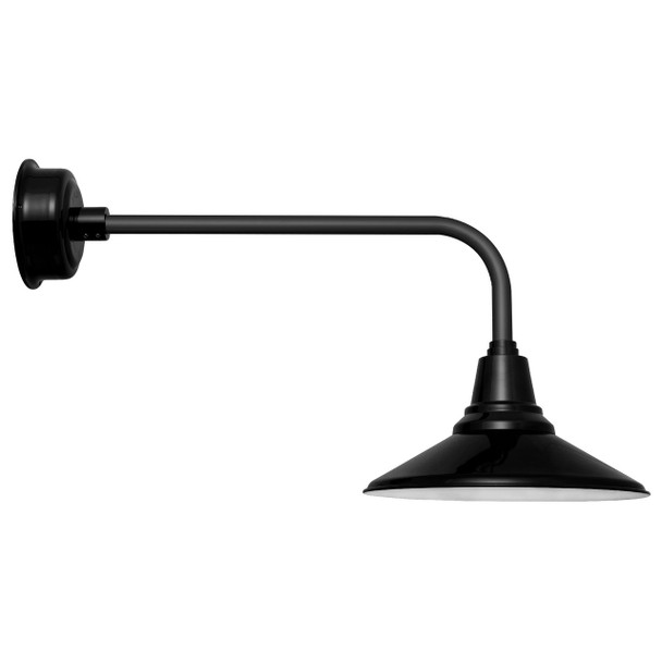 "16"" Traditional Calla Black Indoor/Outdoor LED Barn Light"