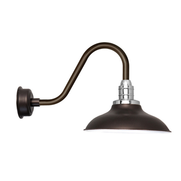 "Rustic 10"" Peony Mahogany Bronze LED Barn Lights"