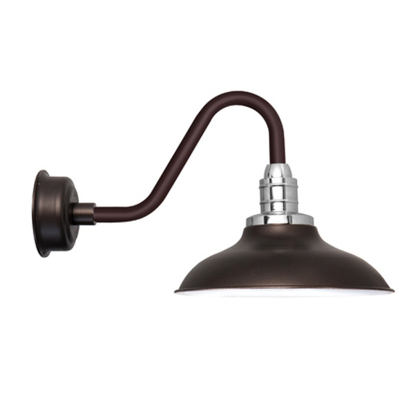 "10"" Peony Vintage Mahogany Bronze LED Barn Lights"