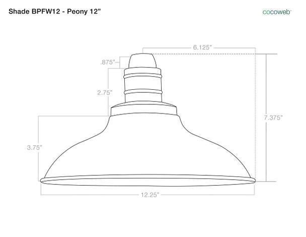 """12"""" Peony Metropolitan Cherry Red Indoor/Outdoor LED Barn Lights"""
