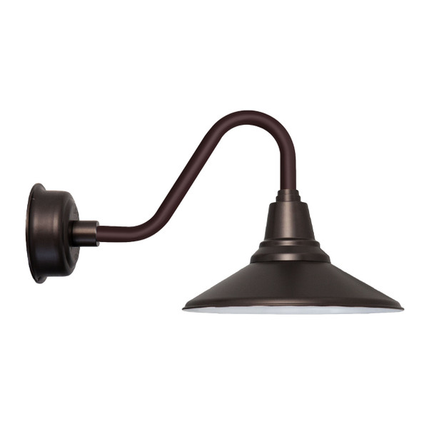 "16"" Vintage Mahogany Bronze Calla Indoor/Outdoor LED Barn Light"