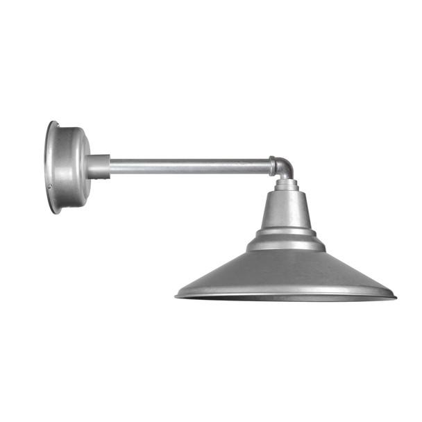 "Galvanized Silver 16"" Metropolitan Calla Indoor/Outdoor LED Barn Light"