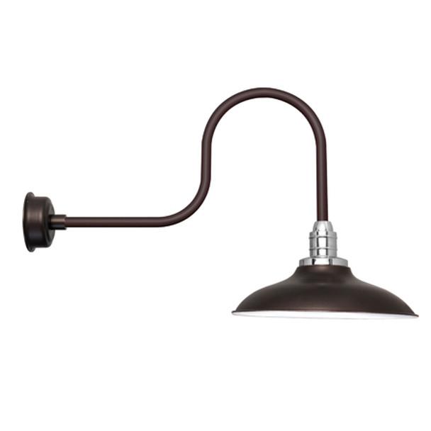 "12"" Mahogany Bronze Industrial Peony Indoor/Outdoor LED Barn Lights"