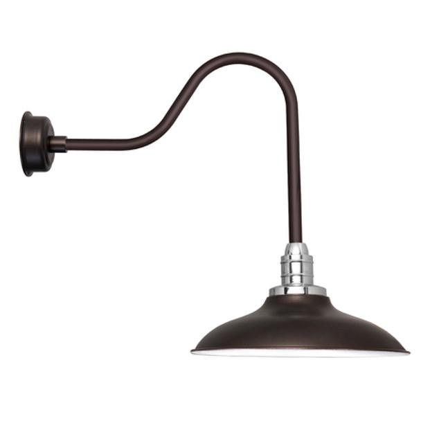 """12"""" Mahogany Bronze Sleek Peony LED Barn Lights"""