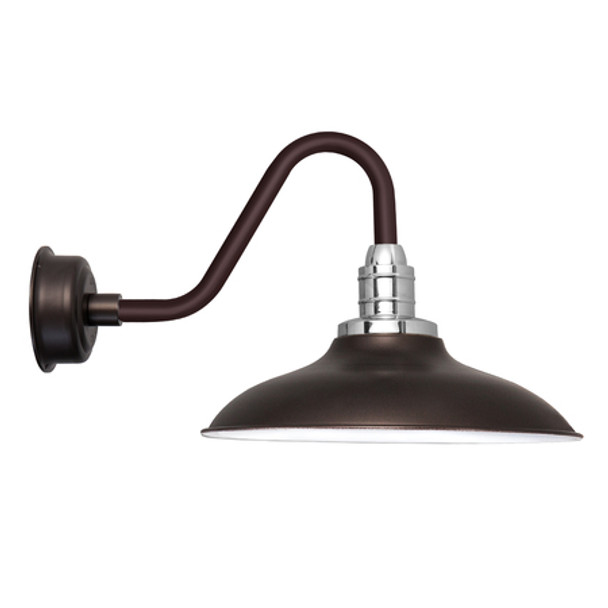 "Vintage 12"" Mahogany Bronze Peony LED Barn Lights"