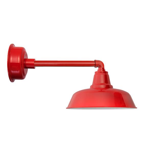"""Goodyear Cherry Red Metropolitan Indoor/Outdoor 14"""" LED Barn Lights"""