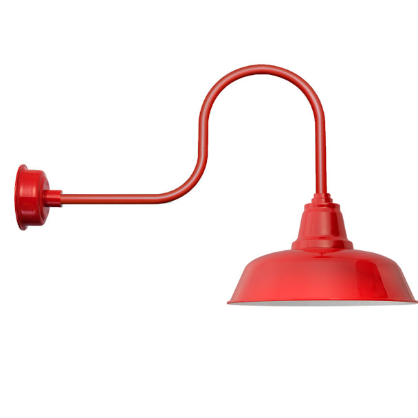 "Industrial 14"" Goodyear Cherry Red LED Barn Lights"