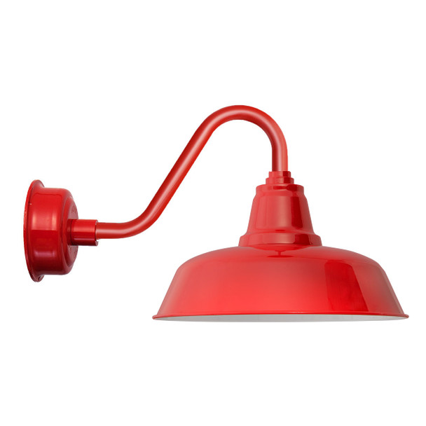"""Cherry Red 14"""" Indoor/Outdoor Vintage Goodyear LED Barn Light"""