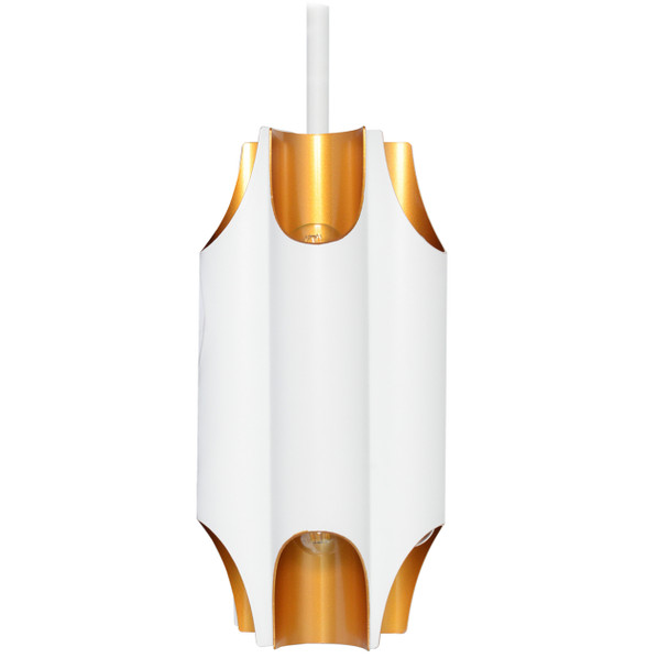 "11"" Savona LED Pendant Light in White"