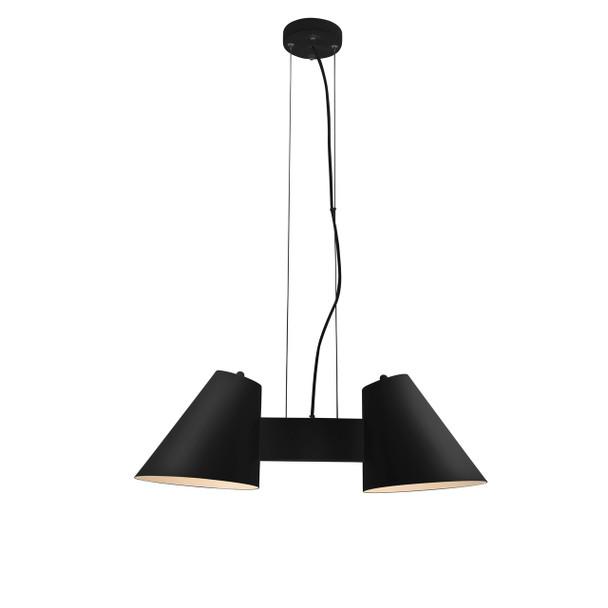 Perugia 2 Light LED Chandelier in Black
