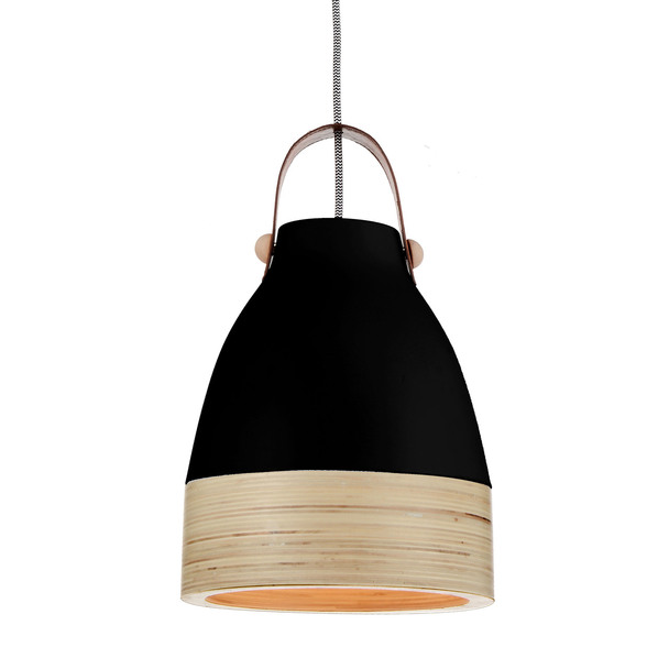 "9"" Norcia LED Pendant Light in Black"
