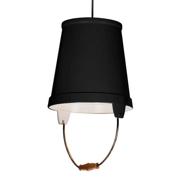 "11"" Orvieto LED Pendant Light in Black"