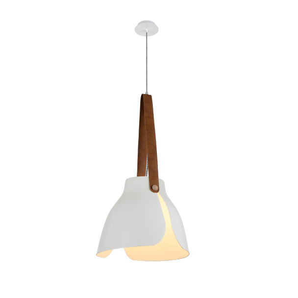 "15"" Enna LED Pendant Light in White"