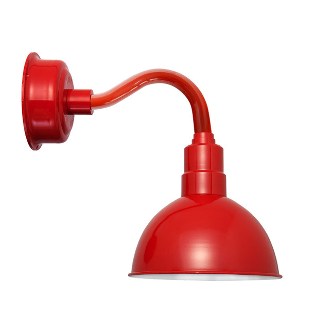 """8"""" Blackspot LED Sconce Light with Chic Arm in Cherry Red"""
