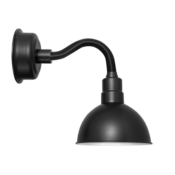 "8"" Blackspot LED Sconce Light with Chic Arm in Matte Black"