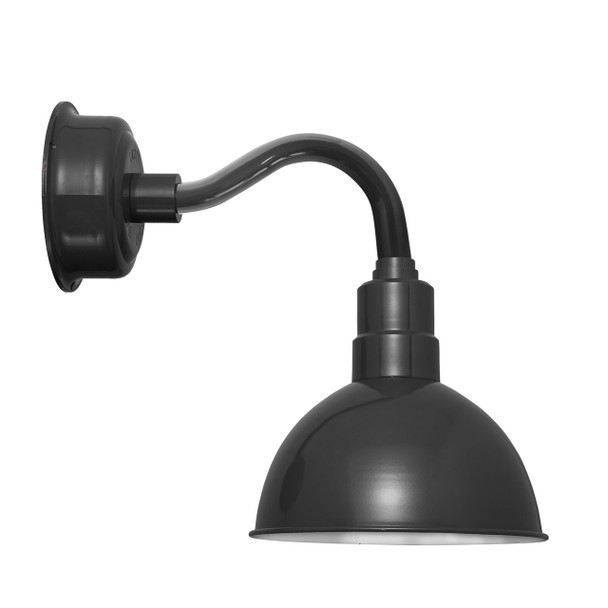 "12"" Blackspot LED Sconce Light in Black with Chic Arm in Black"