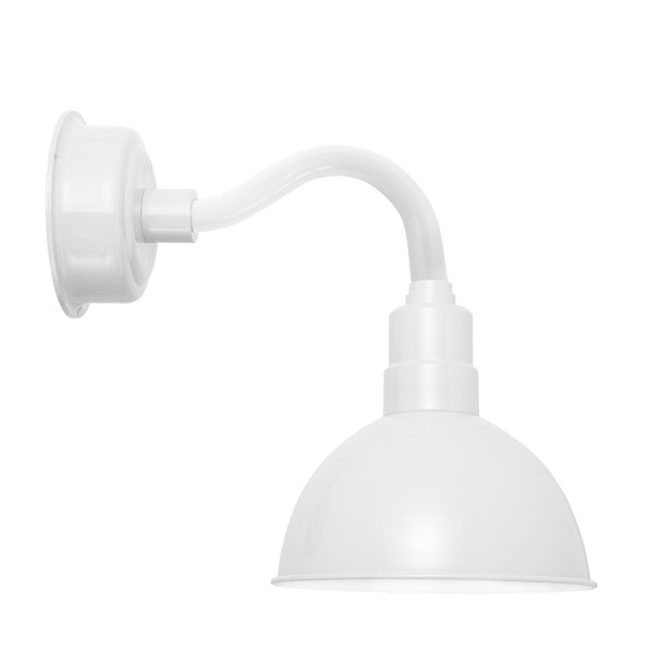 "12"" Blackspot LED Sconce Light with Chic Arm in White"