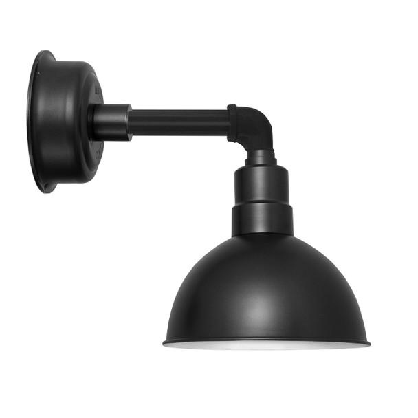 """8"""" Blackspot LED Sconce Light with Cosmopolitan Arm in Matte Black"""