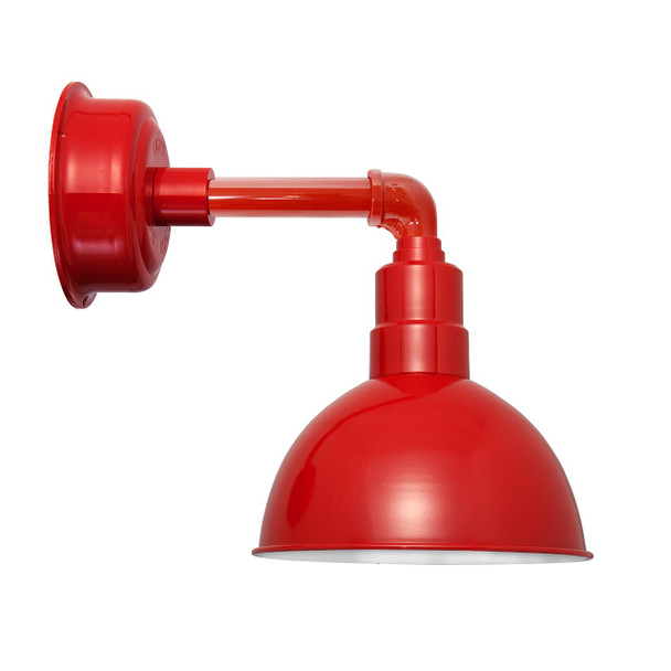 """10"""" Blackspot LED Sconce Light with Cosmopolitan Arm in Cherry Red"""