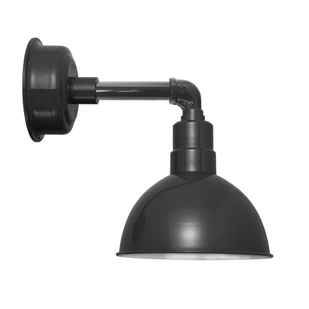 "12"" Blackspot LED Sconce Light with Cosmopolitan Arm in Black"