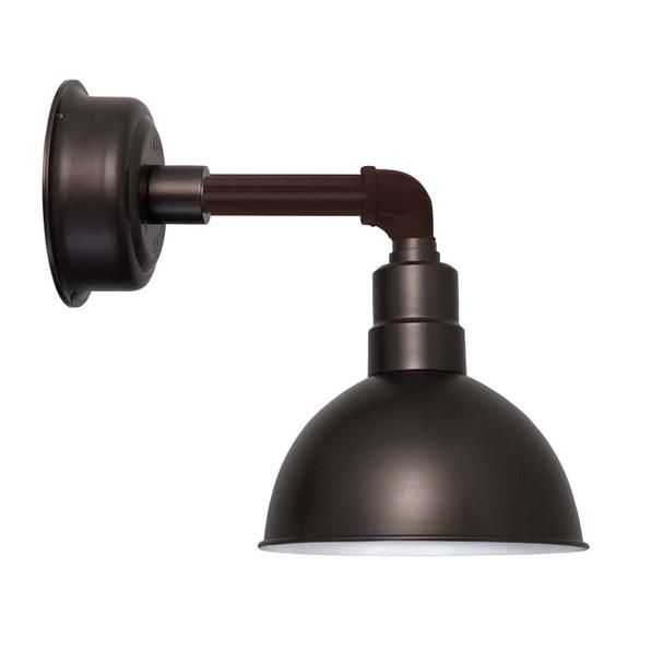 "12"" Blackspot LED Sconce Light with Cosmopolitan Arm in Mahogany Bronze"