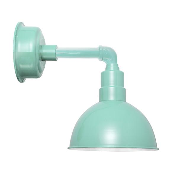 "14"" Blackspot LED Sconce Light with Cosmopolitan Arm in Jade"