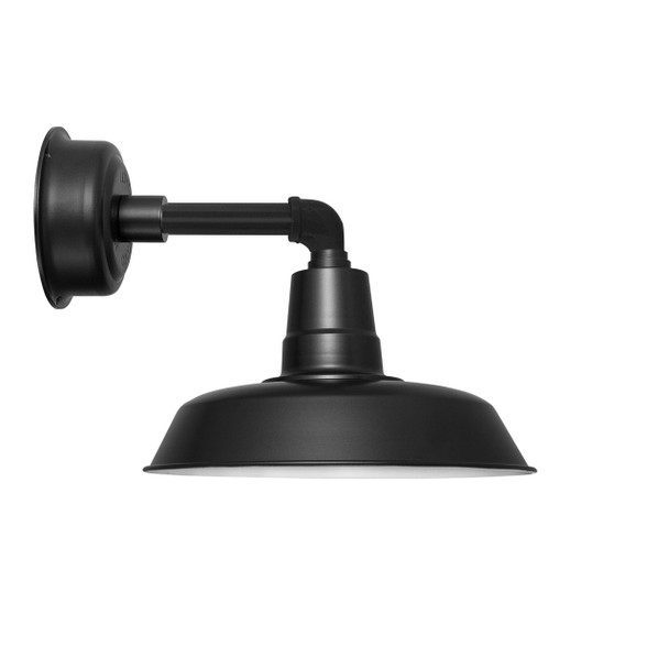 "12"" Oldage LED Sconce Light with Cosmopolitan Arm in Matte Black"