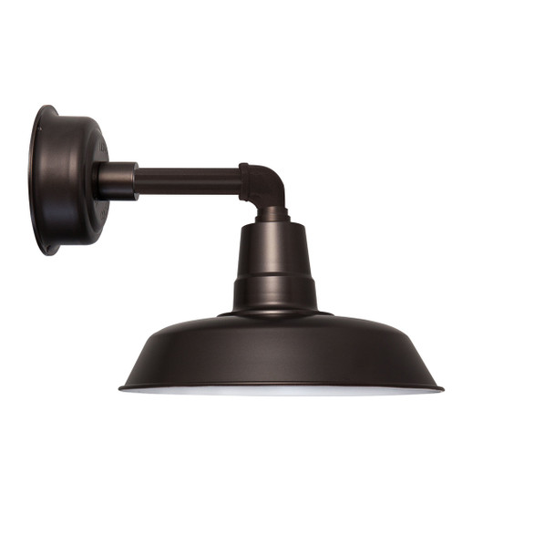 """14"""" Oldage LED Sconce Light with Cosmopolitan Arm in Mahogany Bronze"""