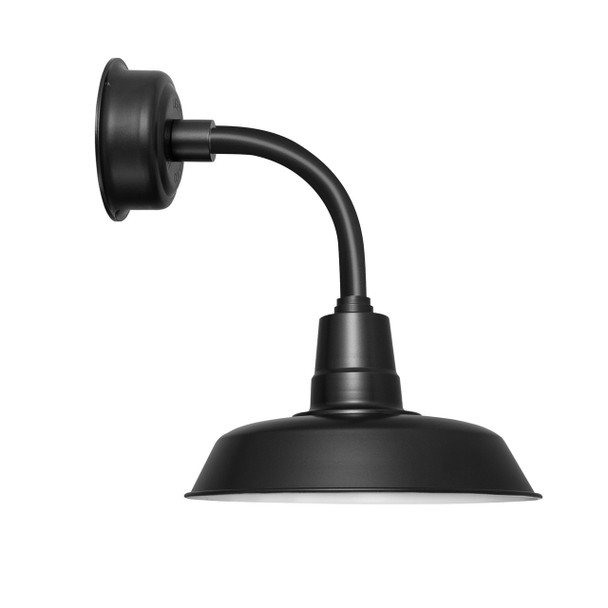 "14"" Oldage LED Sconce Light with Trim Arm in Matte Black"