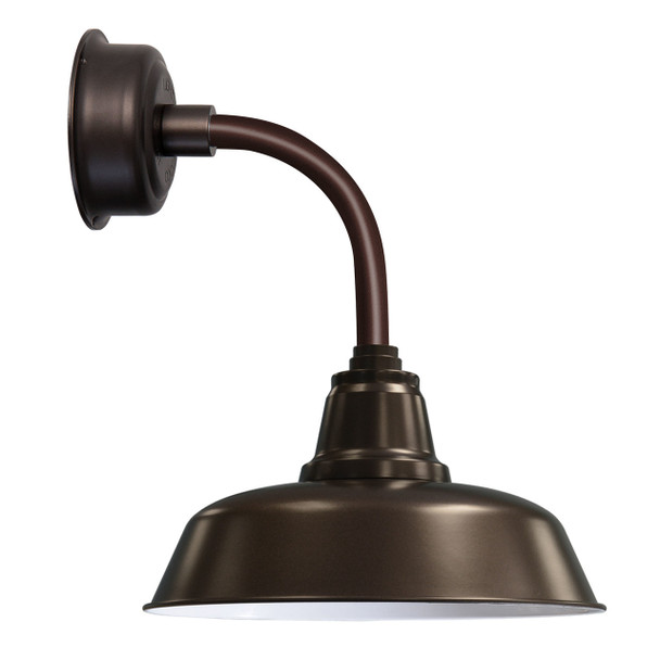 """12"""" Goodyear LED Sconce Light with Trim Arm in Mahogany Bronze"""