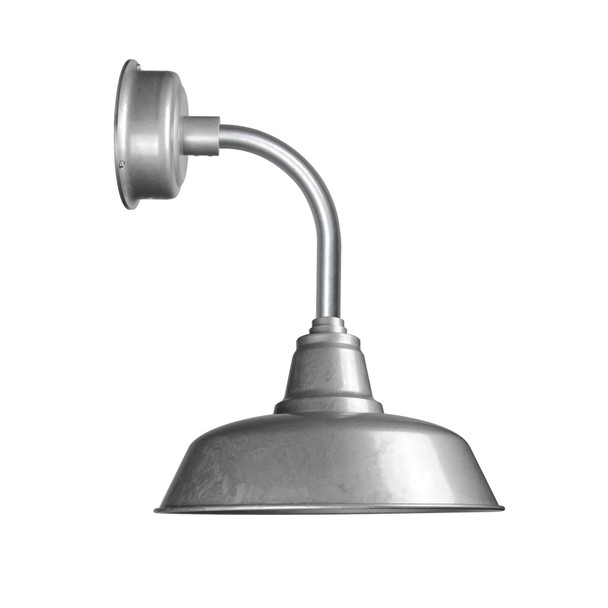 """10"""" Goodyear LED Sconce Light with Trim Arm in Galvanized Silver"""