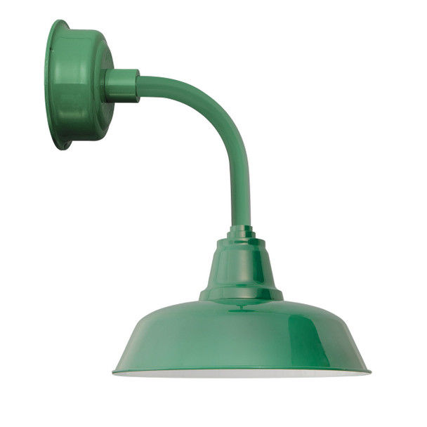 "14"" Goodyear LED Sconce Light with Trim Arm in Vintage Green"