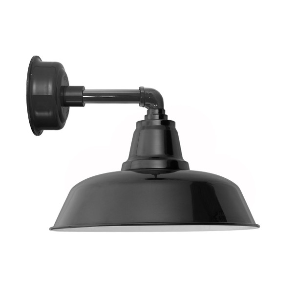 """14"""" Goodyear LED Sconce Light with Cosmopolitan Arm in Black"""