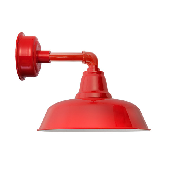 """14"""" Goodyear LED Sconce Light with Cosmopolitan Arm in Cherry Red"""