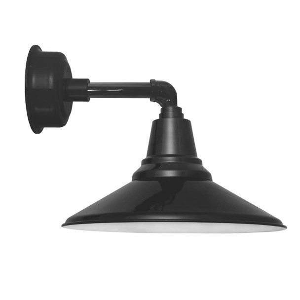 """14"""" Calla LED Sconce Light with Cosmopolitan Arm in Black"""