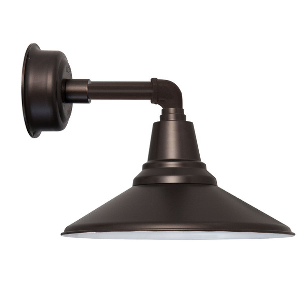 """14"""" Calla LED Sconce Light with Cosmopolitan Arm in Mahogany Bronze"""