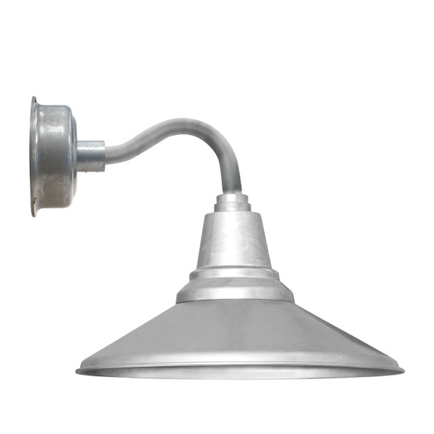 "12"" Calla LED Sconce Light with Chic Arm in Galvanized Silver"