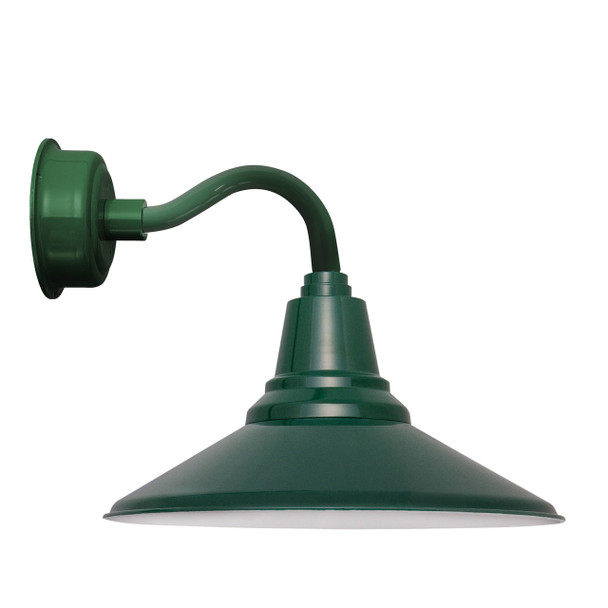 "12"" Calla LED Sconce Light with Chic Arm in Vintage Green"
