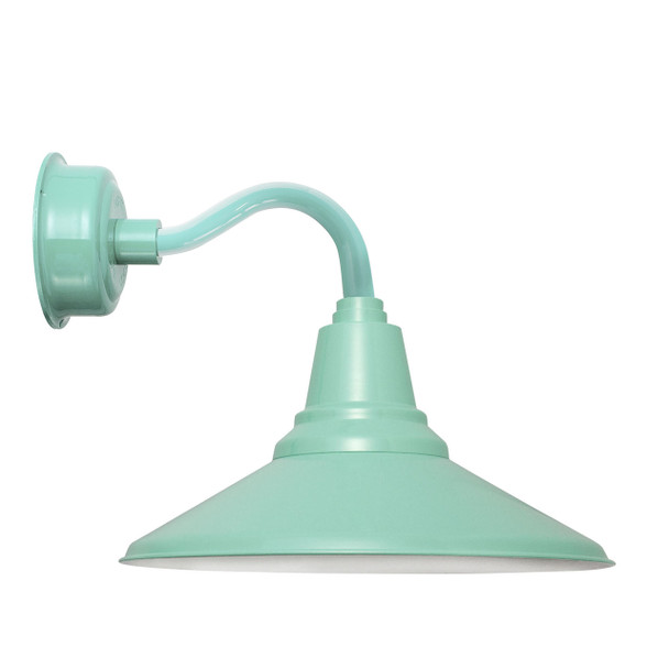 "14"" Calla LED Sconce Light with Chic Arm in Jade"