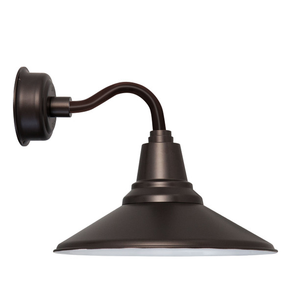 """14"""" Calla LED Sconce Light with Chic Arm in Mahogany Bronze"""