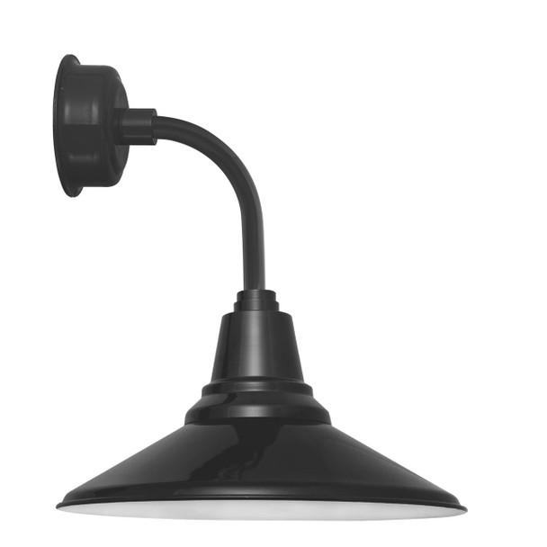 "12"" Calla LED Sconce Light with Trim Arm in Black"